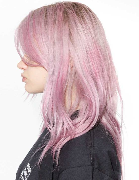 Rose Quartz Hair Lookbook Model I Redken Canada